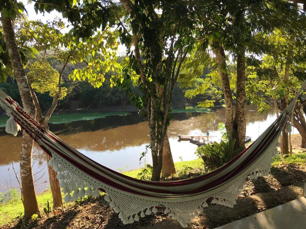 Hammock in Chuchini with view to the Lagoon