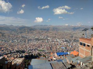 La Paz dans sa vallee